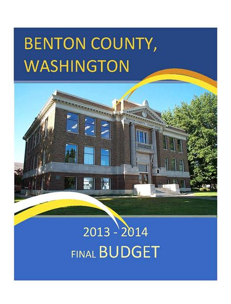 Benton County Washington Court Records 2013 2014 Budget Documents Benton County Wa