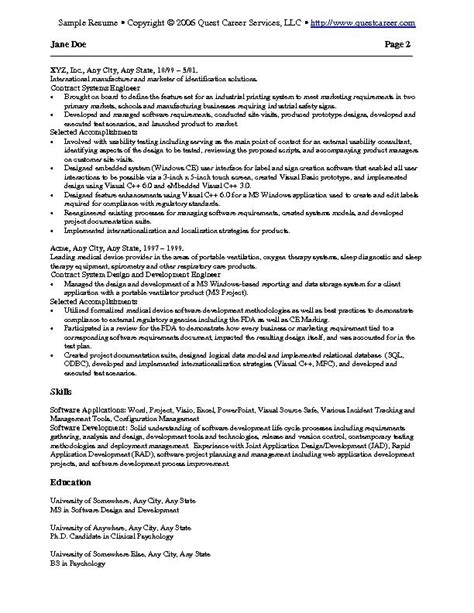 sle word resume keyword resume sle word 28 images 28 pre primary