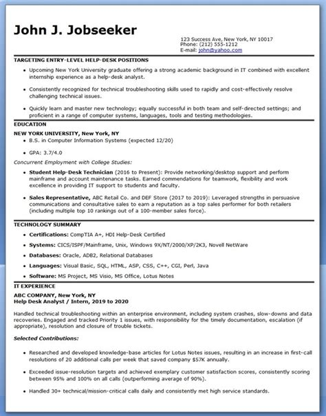 resume sle for staff it employee resume format resume downloads