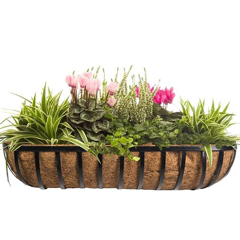 Large Outdoor Wall Planters Beautiful Metal Planters For Wall Decoration Strong And