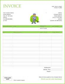 cleaning service invoice template free cleaning service invoice