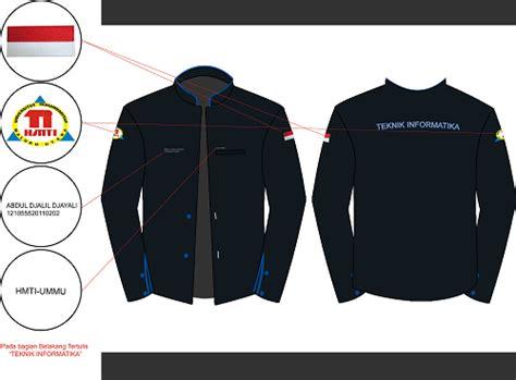 desain jaket himpunan mahasiswa jl jacket hmti dan pdh hmti universitas muhammadiyah