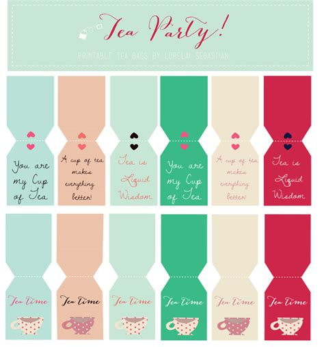 printable tea label lorelai s things printable tea tags for your tea party