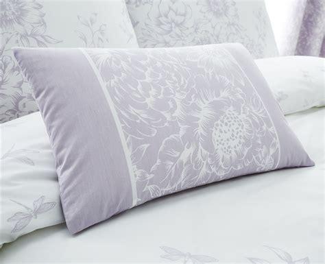 floral border design lilac bedding duvet cover set single double king size ebay