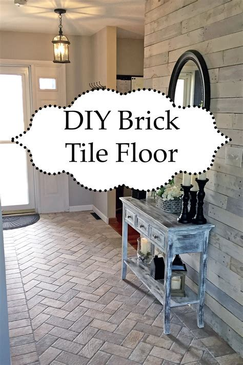 Foyer Accent Floor   Chicago South Side Porcelain Brick