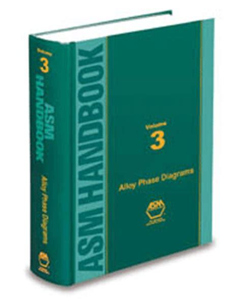 Asm Handbook Volume 3 Alloy Phase Diagrams