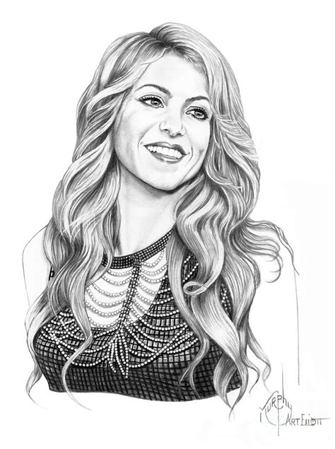 shakira drawing shakira drawing by murphy elliott
