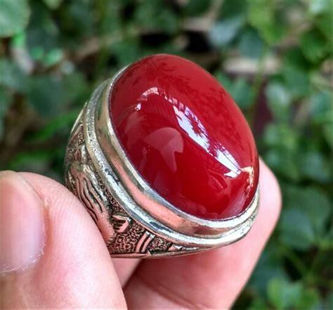 jual cincin batu akik red baron pacitan top crystal