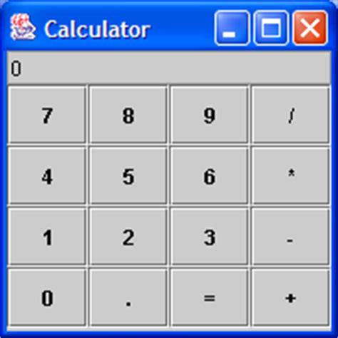 calculator program in java using swing a simple calculator calculator 171 tiny application 171 java