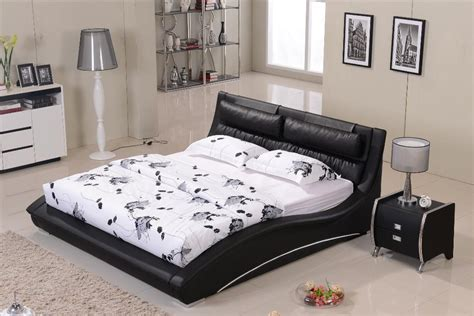 bed headrest black leather wood bed frames with boxspring bedroom