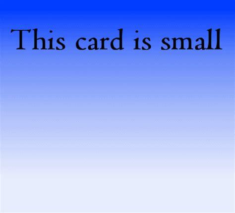 Small Birthday Cards