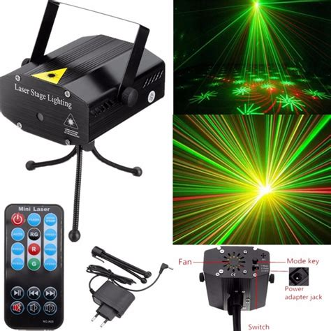 Mini Laser Stage Light Multicolor Projector 12 Pattern Blue buy portable mini multi led laser pointer dj disco
