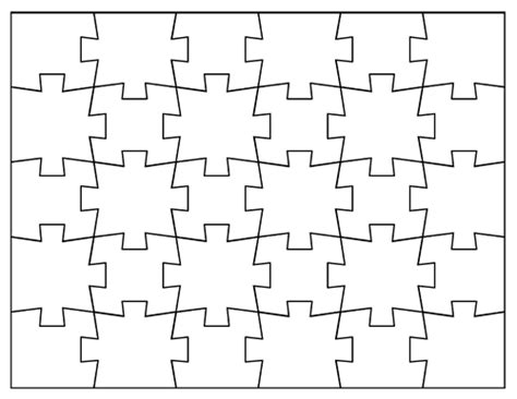 Blank Jigsaw Puzzle Templates Make Your Own Jigsaw Puzzle Outline Template