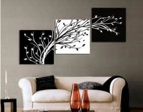 Black And White Wall Decor by Aliexpress Buy 3 Panels Black White Trees Canvas