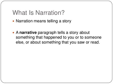 What Is A Narrative Essay by Narration
