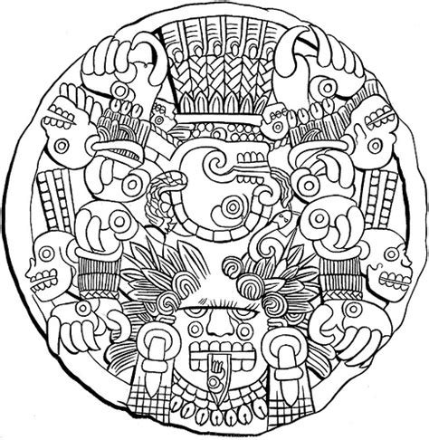 free mayan art coloring pages