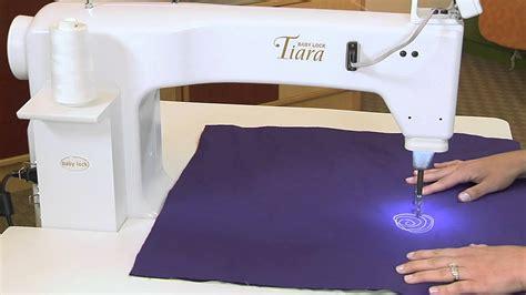 Tiara Quilting Machine by Tool School Baby Lock Tiara