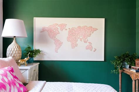 Diy String Map - how to make a large scale world map string hgtv