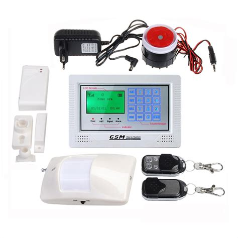 buy 433mhz lcd touch keypad wireless wired gsm home