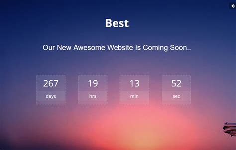 Best Coming Soon Html Bootstrap Template Free Download Coming Soon Template