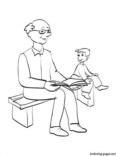 Grandfather S Day Coloring Page Coloring Pages Grandfather Coloring Pages