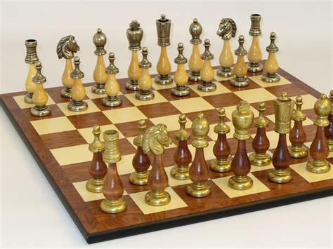metal chess set cs818 142mw h staunton metal wood chess set