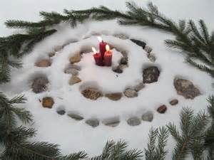 winter solstice decorations ideas candles yule and labyrinths on