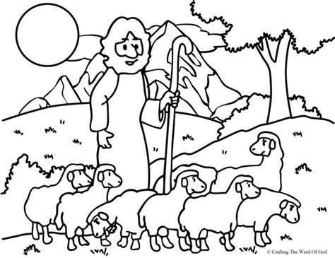 the good shepherd the lost sheep coloring page sunday