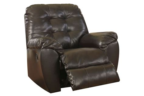 white recliner rocker alliston bonded leather rocker recliner at gardner white