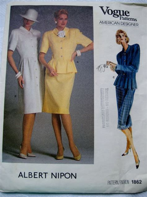 1980 s fashion and home on pinterest 19 pins vintage vogue pattern 1980s dress top skirt suit door