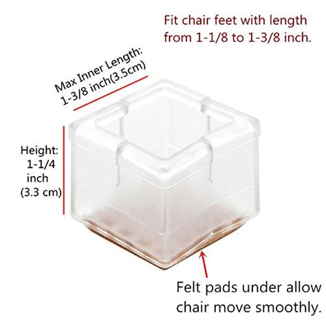 1 inch square chair leg floor protector melonboat chair leg wood floor protectors set felt