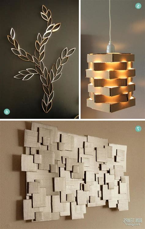diy home decor wall diy modern cardboard pendant light and diy cardboard