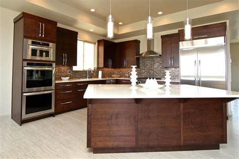 black walnut cabinets kitchen contemporary with family walnut