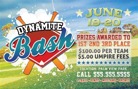 Baseball Tournament Flyer By Rgvmonster On Deviantart Free Baseball Tournament Flyer Template