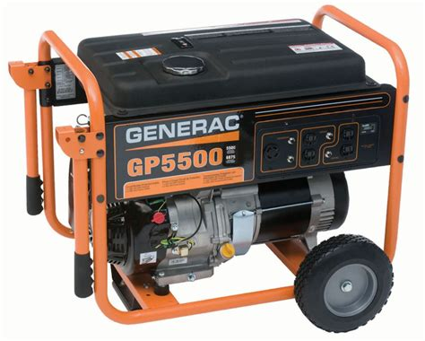 generac gp 5500 watt portable generator the home depot