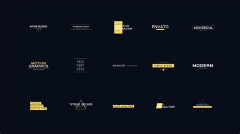templates after effects envato 30 cool and clean motion titles corporate after effects