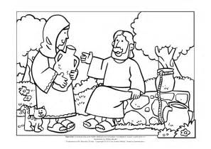 woman at the well coloring sheet coloring pages