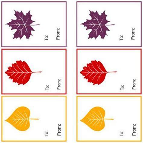 printable autumn name tags free printable autumn gift tags printable signs pinterest