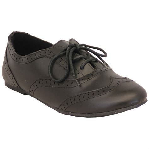 flat school shoes school shoes matt brogue wedding leather look