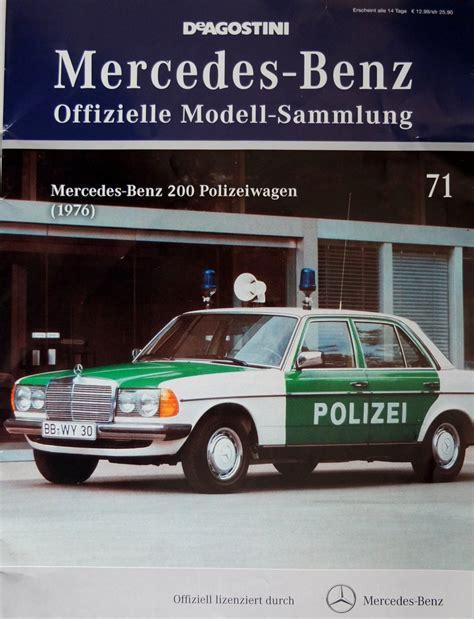 Minichs Mercedes 200 Polizei mercedes 200 polizei modellautostudio haan