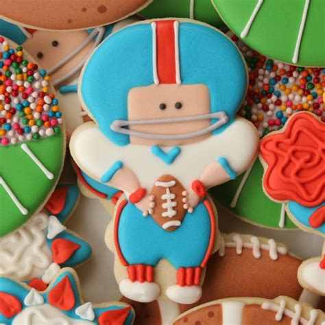 decorated football player cookie the sweet adventures of