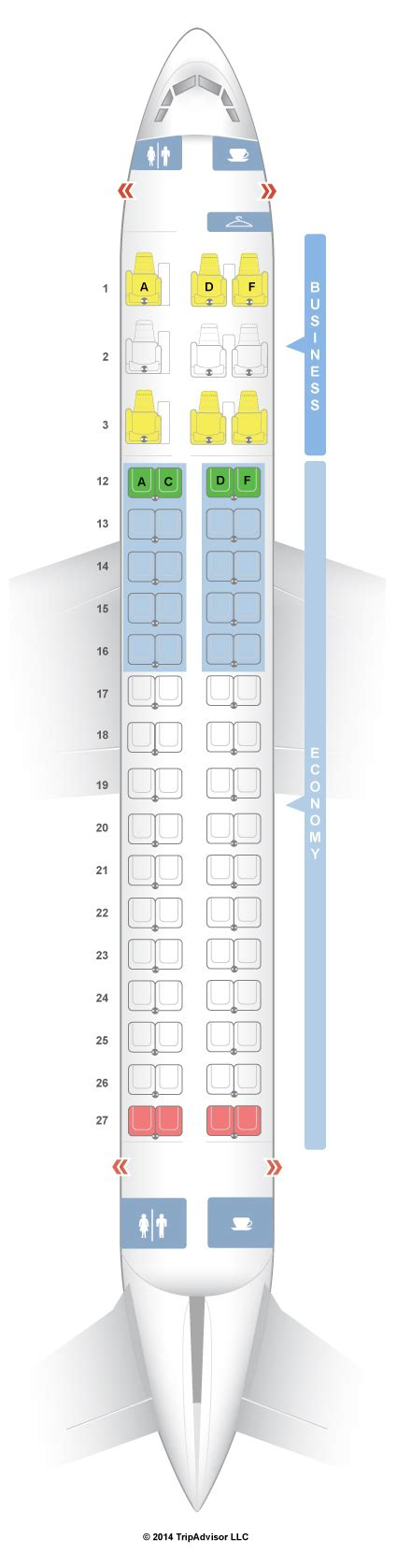 embraer erj 175 seat map seatguru seat map air canada embraer e 175