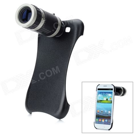 Samsung S3 Zoom 8x zoom optical telescope lens back cover for samsung galaxy s3 i9300 black silver