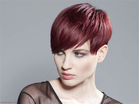 short hair styles cut round the ear short above the ears tomboy haircut rose hair color