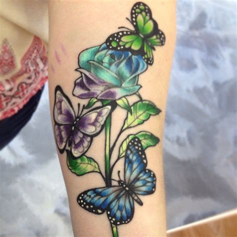 rose vine butterfly tattoo 56 best and vines tattoos images on
