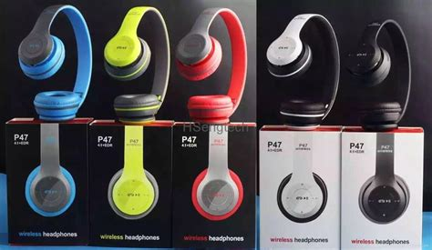 cheap wholesale p47 rechargeable wireless headphones colorful bluetooth headset sport hook