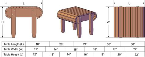 side table height adirondack side table redwood side tables