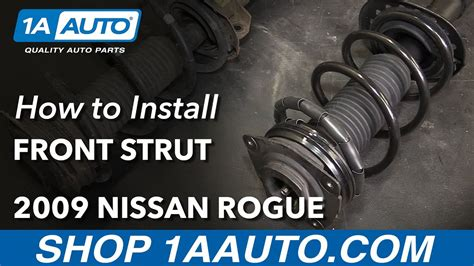 how to install replace front strut spring shock 2000 05 how to install replace front strut spring assembly 2008 11 nissan rogue 2012 pre 1 12
