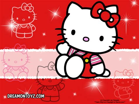 wallpaper hello kitty red free cartoon graphics pics gifs photographs hello