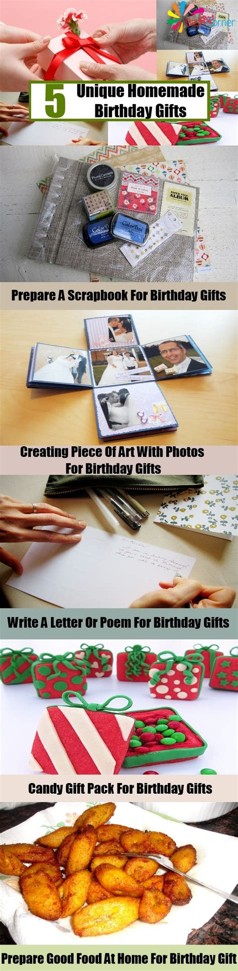 Unique Handmade Birthday Gifts - 5 unique birthday gifts creative